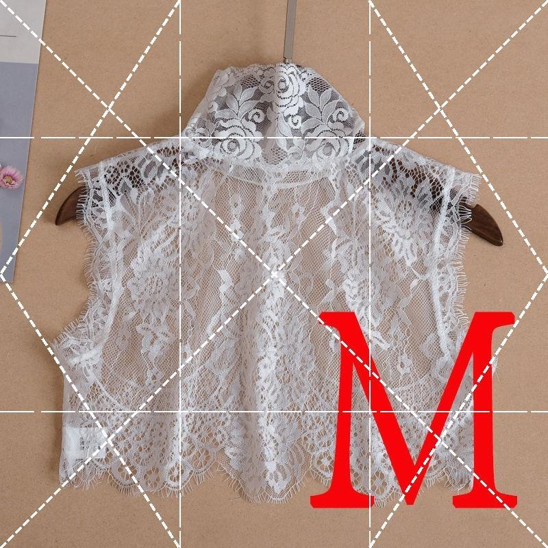 Hooded Lapel large lining fake collar childrens versatile fake collar summer sun protection womens lovely japanese blouse high collar