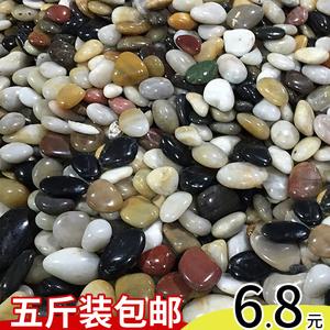 领1元券购买南京雨花石原石天然鹅卵石五彩小石子鱼缸花盆铺路庭院石头5斤装