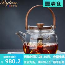 bylure耐热加厚煮茶玻璃壶泡茶壶单壶耐高温电陶炉煮茶壶茶具套装