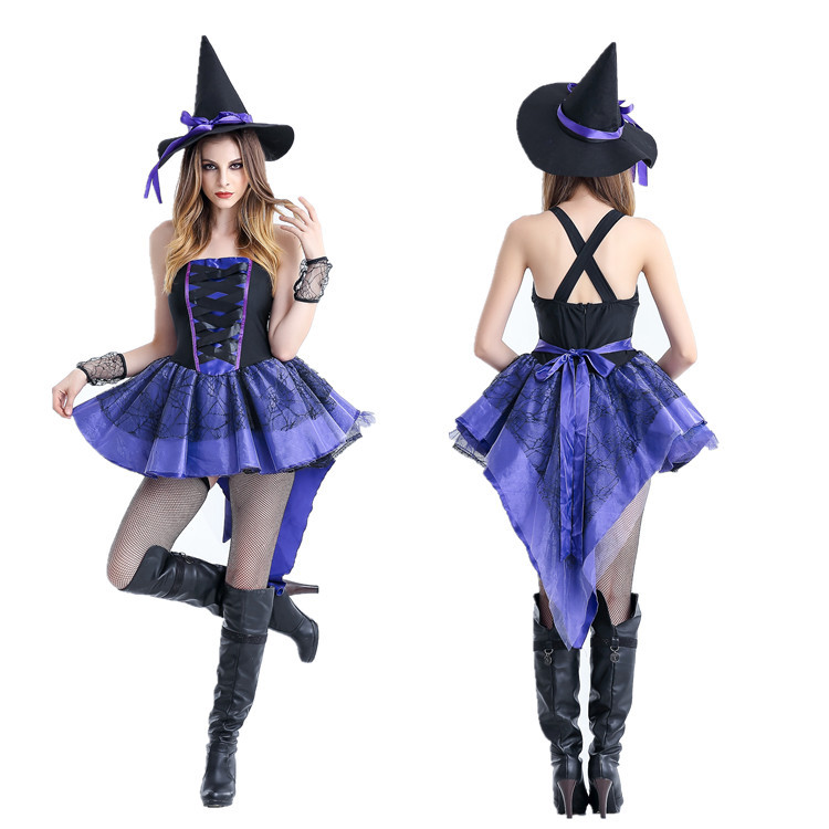 New long Magic game uniform dress Witch Costume role play stage costume