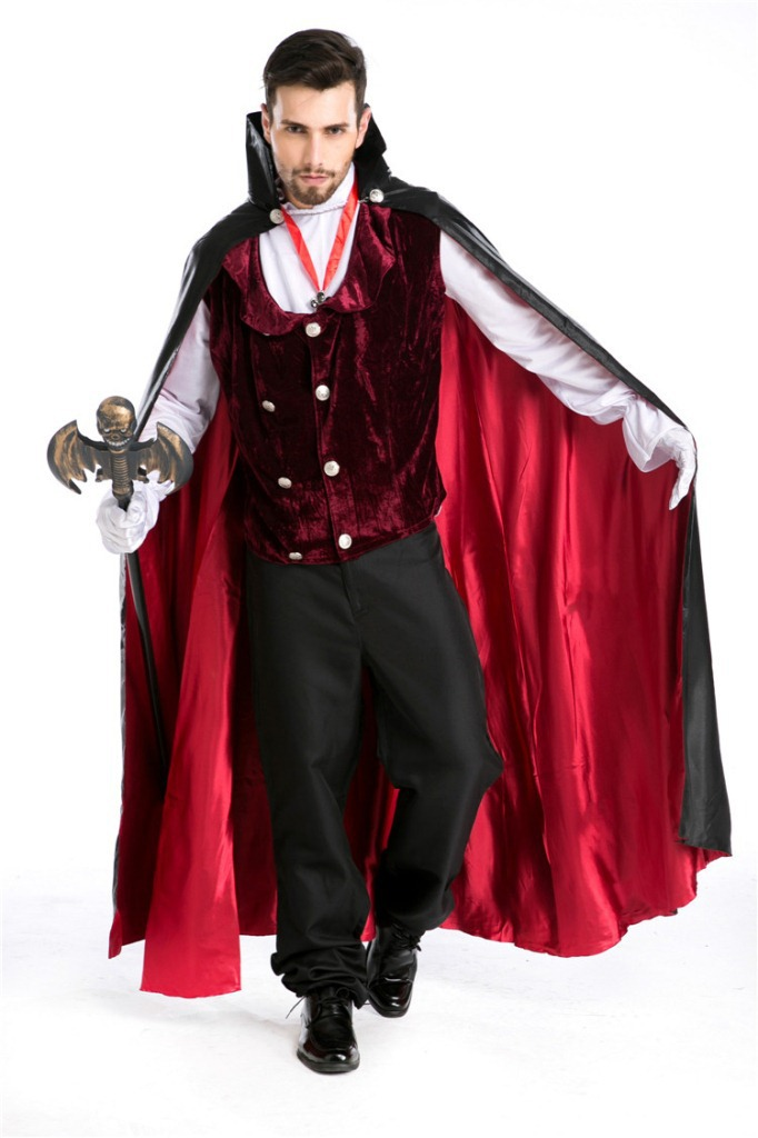 Halloween Costume vampire Count Dracula role play classic movie Cosplay uniform man
