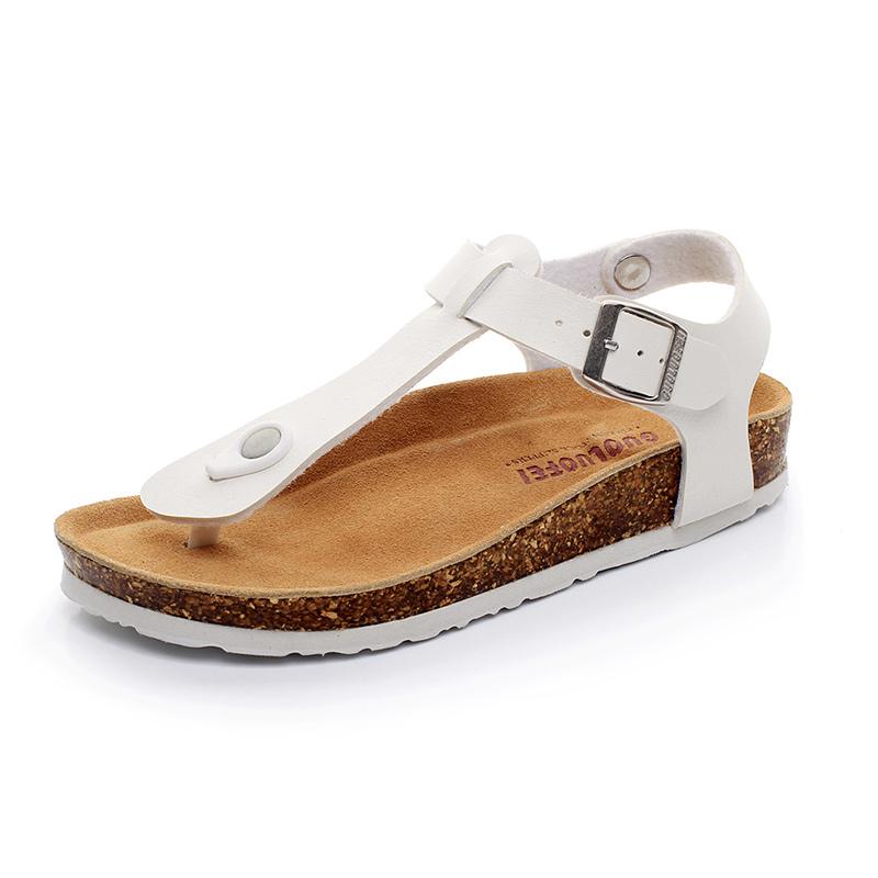 Cork slippers womens summer 2021 new Flip Flop Sandals fashion simple flat bottom clip toe large size sandals women
