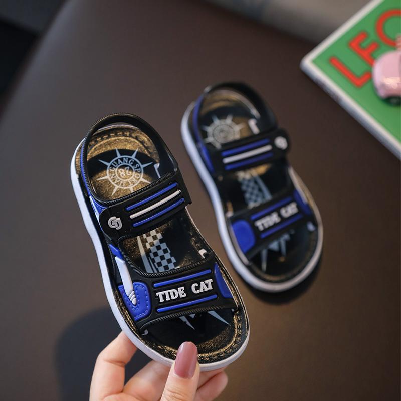男童凉鞋夏2021新款防滑厚底洋气中大童学生小孩小童凉拖鞋沙滩鞋