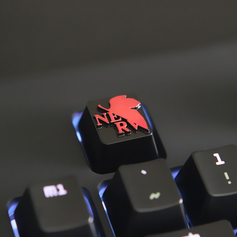 Game keycap transparent pattern single space color red and black system no mechanical cute pink skills key hot