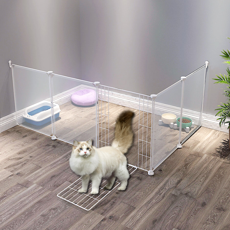 Kennel baffle fence indoor isolation gate fence dog cage cat fence teddy small dog pet fence plastic