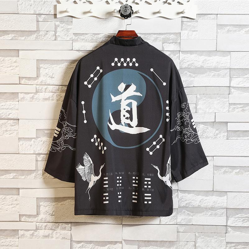 汉服男夏季中国风男装复古风男士道袍披风潮流防晒衣外套薄款唐装