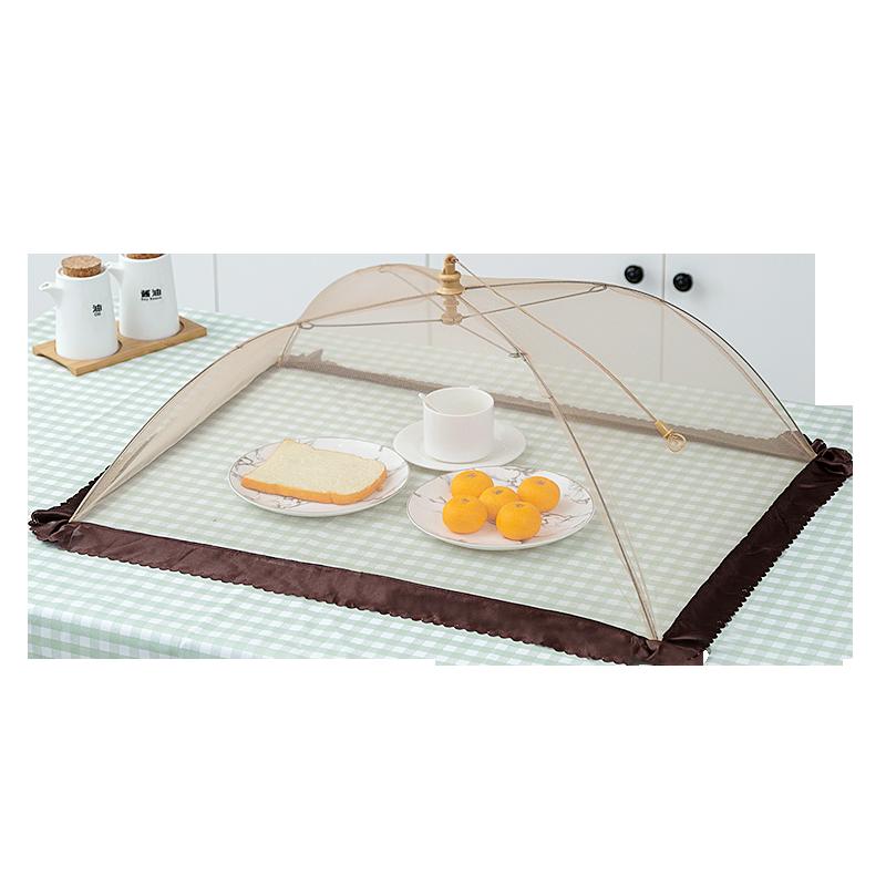菜罩 家用折叠大号透气餐桌罩饭菜罩剩菜罩食物罩 罩菜盖饭桌套罩