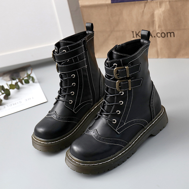 Winter 2019 Martin boots soft girl cute womens shoes new ins trendy shoes versatile college style British short boots