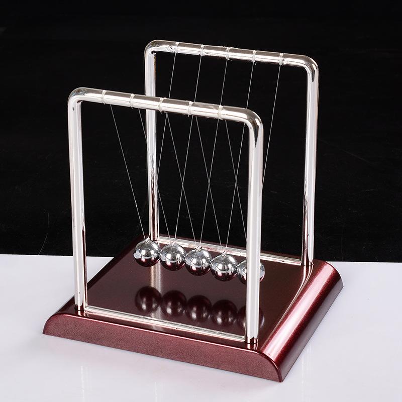 牛顿摆撞球弹力碰碰球物理能量摆件创意礼品桌面摆件送同学礼物
