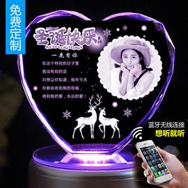 盒创意生日送男女生闺水晶球旋转八音蜜相片定制圣诞节礼物图片