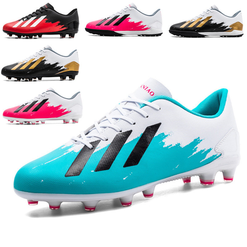 Manufacturer football shoes male Ag long nail primary and secondary school adult training shoes female indoor and outdoor grass flat shoes