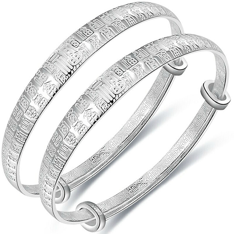 Genuine pure silver BB Baby Bracelet 999 full silver childrens rich and noble Baifu childrens Bracelet