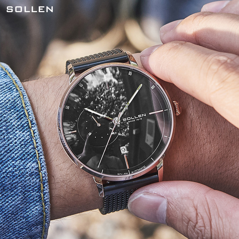 Solon watch mens watch 2021 new mechanical watch mens fully automatic personality cool mens watch China famous brand