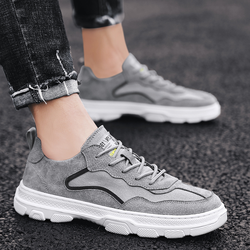 Mens shoes summer breathable canvas Martin boots mens low help work clothes shoes leather mens shoes spring shoes 2020