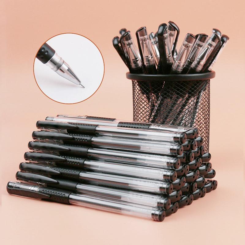 吉米小象文具中性笔0.5mm针管学霸刷题水笔学生考试用黑笔文具20支笔40支笔芯