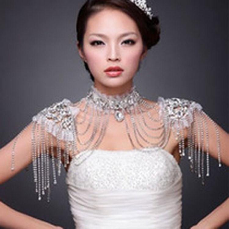 原版厂家直销奢华水钻 新娘肩链套链 婚纱礼服配饰支持混批