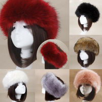 Winter Thick Furry Hairband Fluffy Russian Faux Fur Women