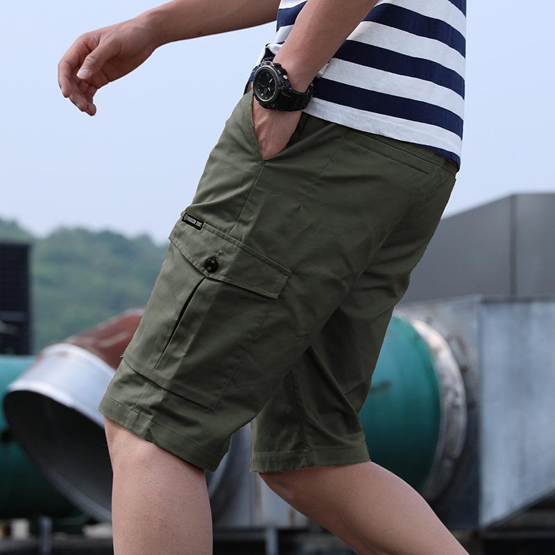 Five point shorts mens 2020 summer new youth Korean loose casual cotton versatile mens multi bag pants