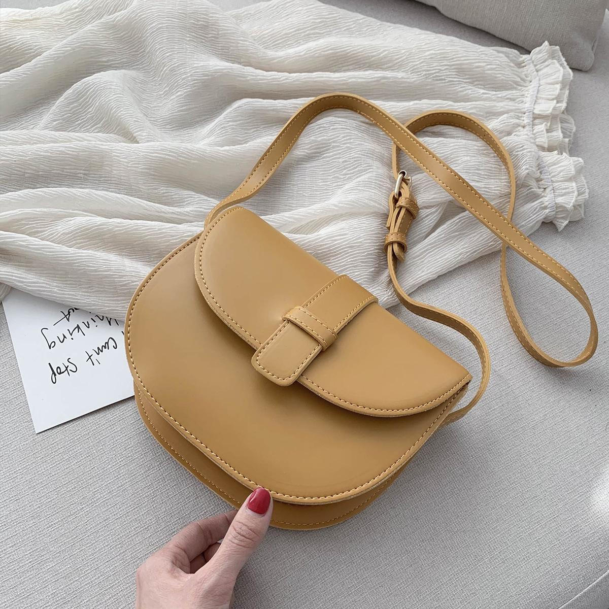 Carlo Daisy bag womens versatile saddle bag temperament fashion single shoulder bag retro ins messenger bag 2020 NEW