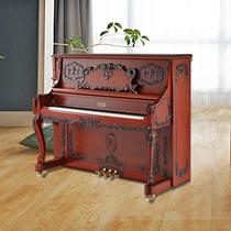 沃恩钢琴立式钢琴红木雕花德国原装进口配件专业演奏钢琴VAUGHAN
