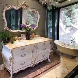 卫生间美式简欧式浴室柜实橡木洗脸盆卫浴柜组合卫浴柜洗漱手台盆图片
