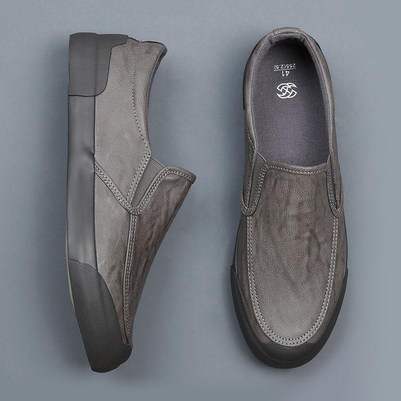 春秋新款男单鞋休闲皮鞋低帮鞋皮面工作鞋图片