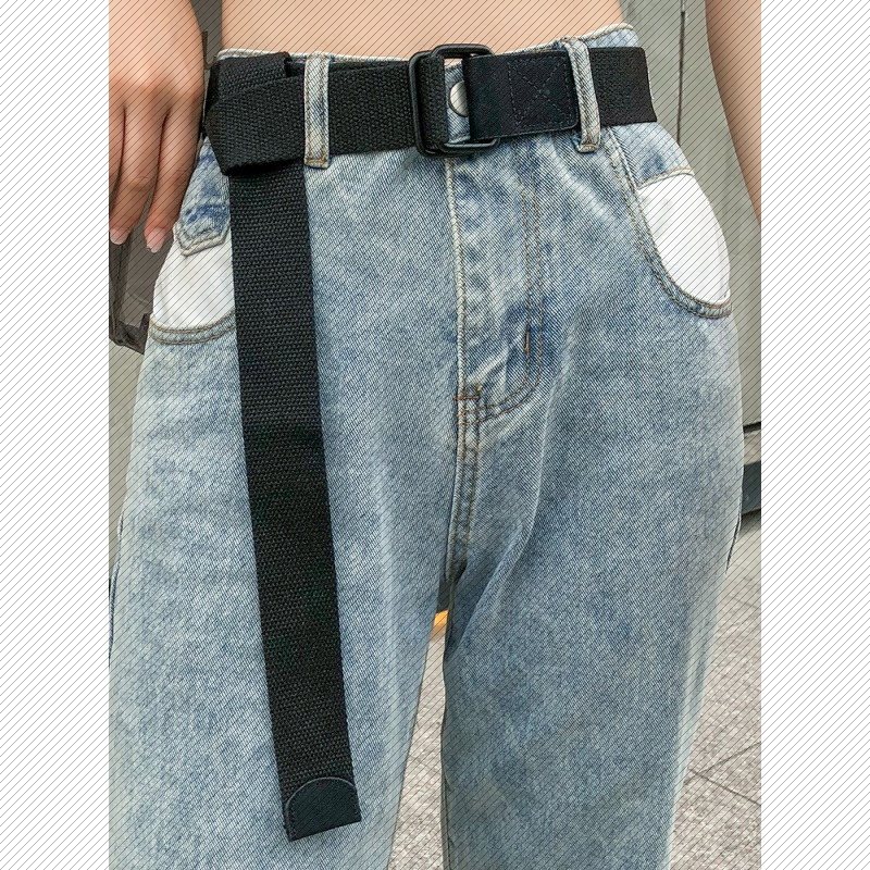 Overalls for young people students belt personality mens Korean belt mens fashion jeans trendy peoples canvas belt