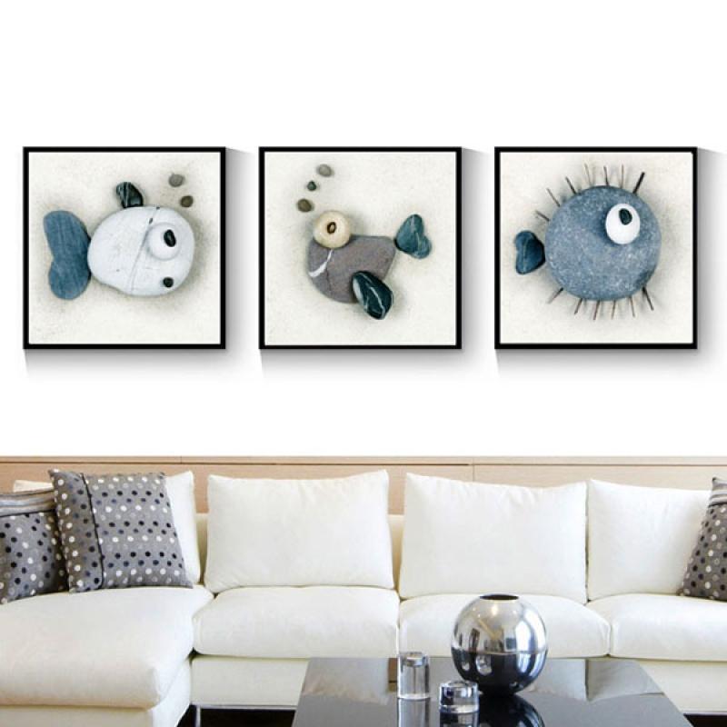 北欧风装饰画客厅沙发背景墙三联画现代简约卧室餐厅挂画新款壁画