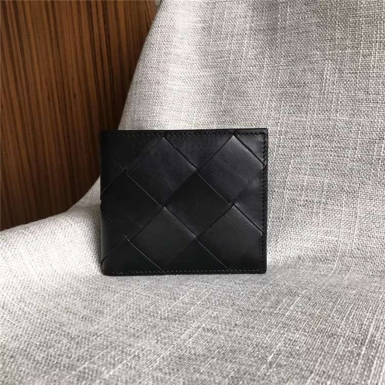 High grade 2020 new enlarged knitting double fold wallet with 8 card positions and 2 compartments 11cm