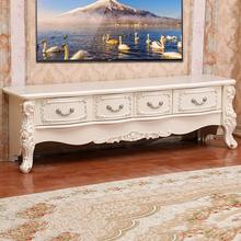 欧式茶几电视柜组合实木简欧小户型液晶电视机柜简约客厅地柜家具