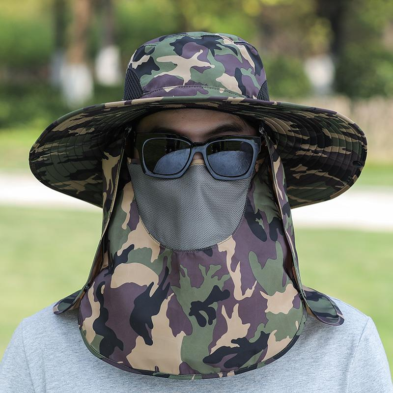 Sun hat for outdoor work mens sun hat for cycling in summer sun hat for Fishing Fishermans hat for face mask
