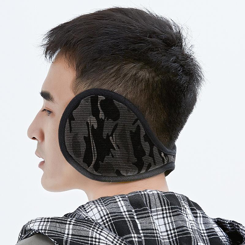 Winter mens warm earmuff camouflage ear cold protection earmuff antifreeze ear cover outdoor thickened Plush ear bag