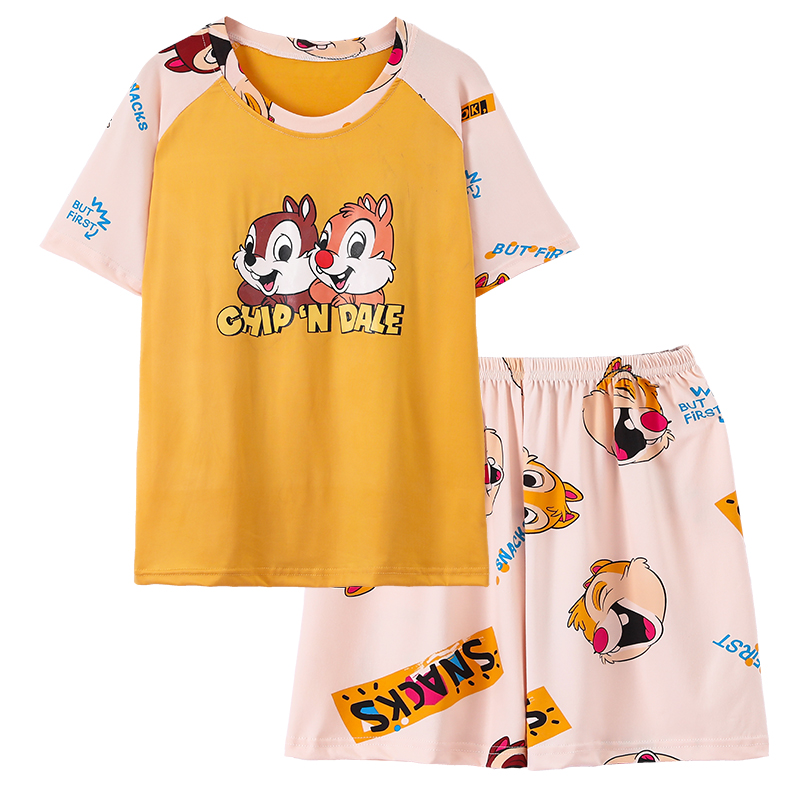 Buy it! Cartoon lovely pajamas lady summer cool thin suit leisure can wear students home clothes