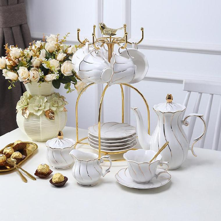6-Piece set restaurant new house guest type utensils cup plate lovers Nordic ceramic coffee cup set wide mouth