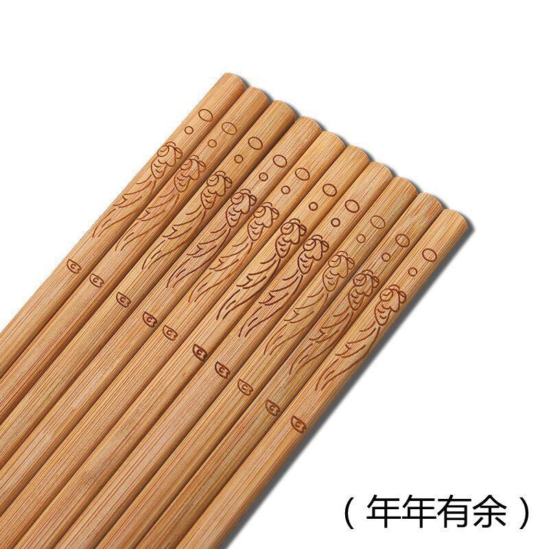 【亏本促销1000份竹筷子】防霉楠竹筷子 无漆无蜡竹筷子 家用筷子