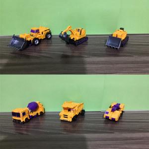 韩国变形玩具六合体金刚合金版大小力神铲车推土机工程车组合儿童