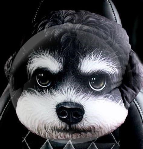 头枕牛头梗犬护颈枕健康护怒眼猫汽车靠枕用品通用折耳猫枕卡通