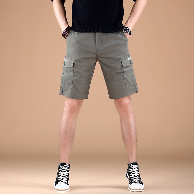 Sports slim fit new five point guard pants mens breathable 2021 thin shorts foot binding trend summer Korean casual pants