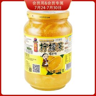 韩国进口 韩今蜂蜜柠檬茶1000g冲调果酱饮品饮料果实茶 柠檬茶图片