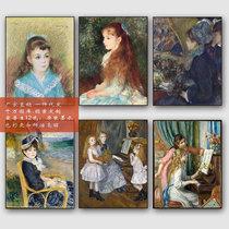 雷阿诺 油画 作品 小艾琳人物客厅装饰画小众墙画复 古民宿 家装