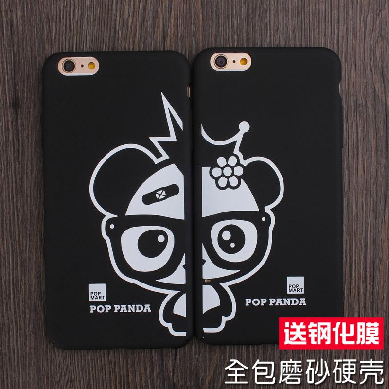 卡通熊貓iphone6plus手機殼 情侶 蘋果6s保護套全包磨砂硬