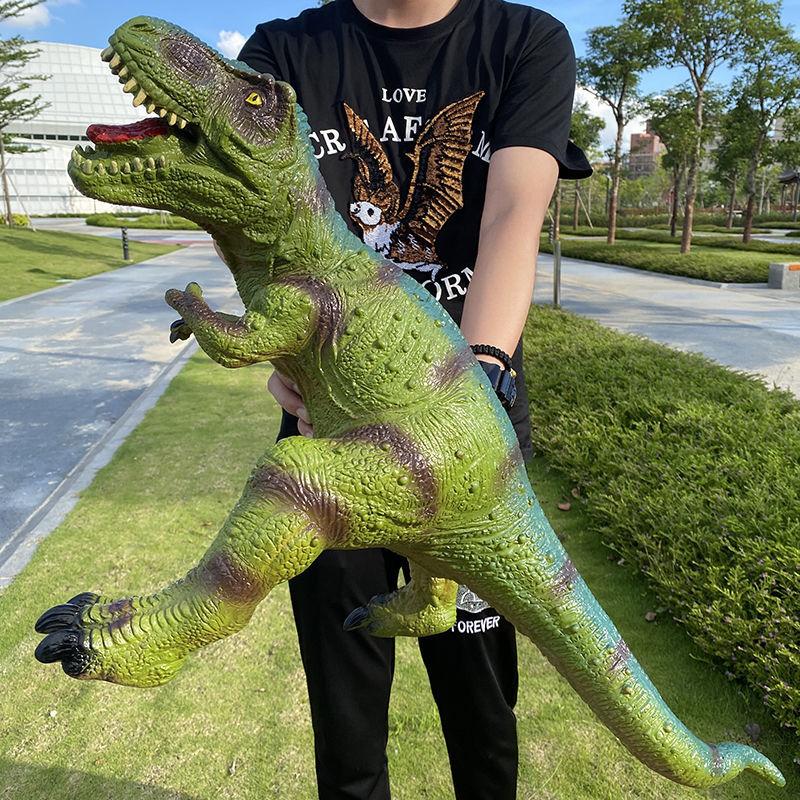 超大号仿真软胶恐龙玩具发声霸王龙三角龙男孩儿童地摊动物模型