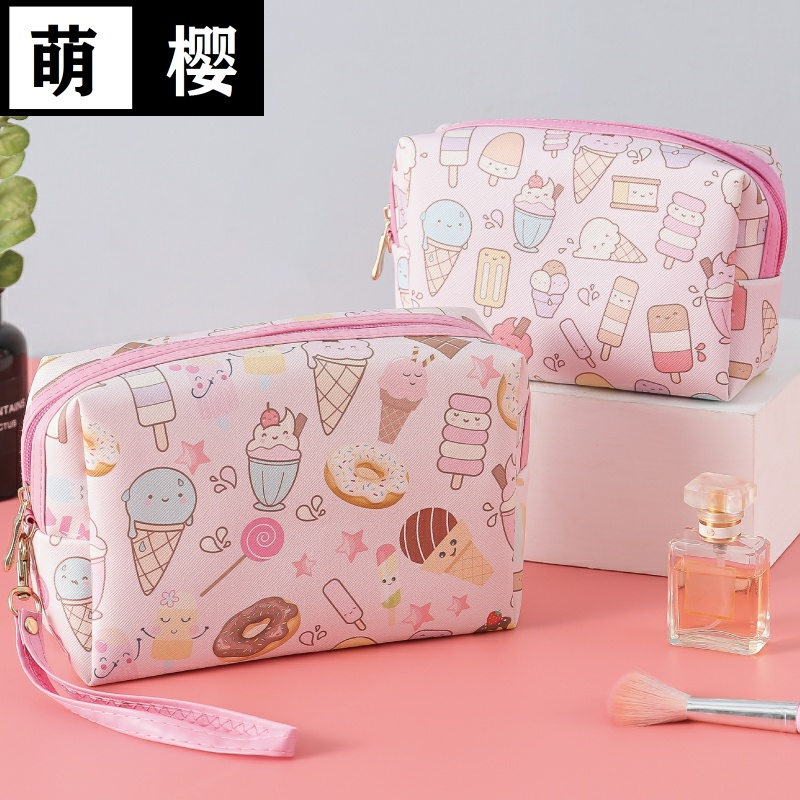 Make up bag Cute Japanese ins style South Korea small storage bag portable large capacity net red cosmetics bag womens hand