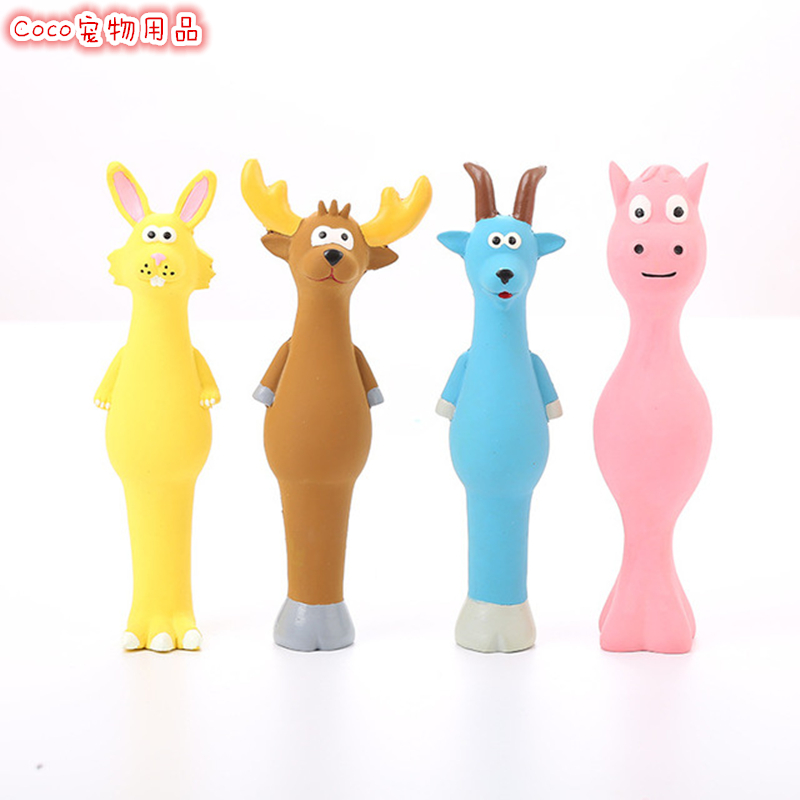 Pet dog toy voice latex toy standing sheep cattle cartoon cute animal doll cat dog toy
