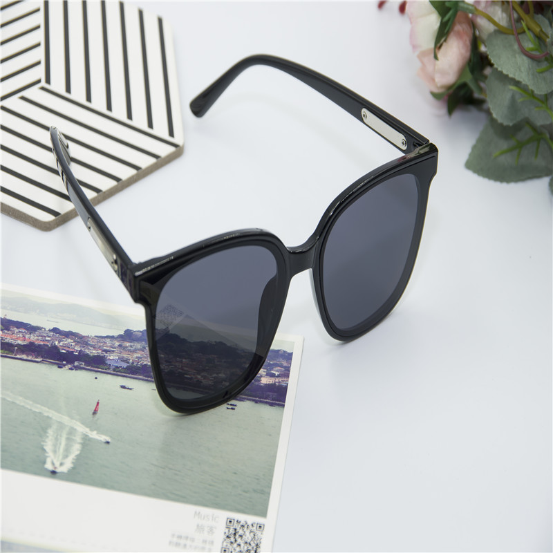 GM Sunglasses female Sunglasses male big frame net red retro Korean glasses dark driving special round face 2020 NEW