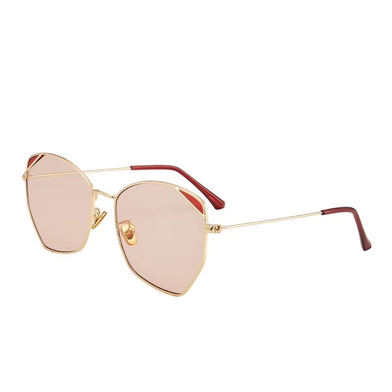 Sunglasses of Ds family: gradual color sunglasses, female big frame, lovely Han Chao glasses, UV proof, polarized light proof, big face, INS net red