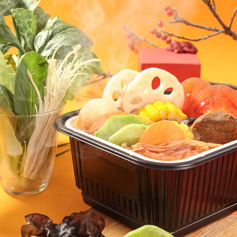 薄荷健康easy fun番茄牛腩自热小火锅即食轻卡速食食品图片