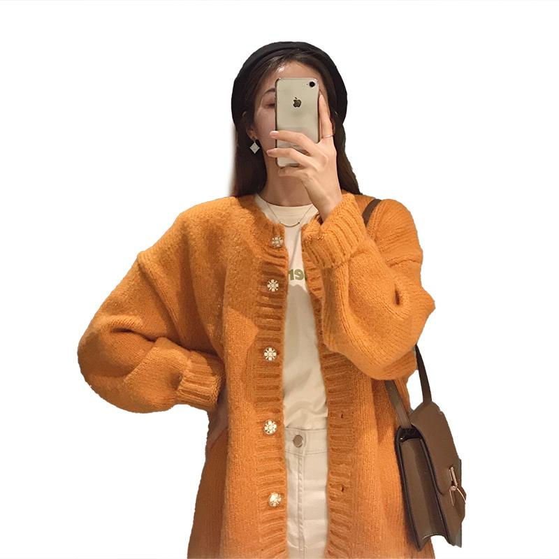 气质纯色宽松显瘦中长款马海毛开衫评价好不好