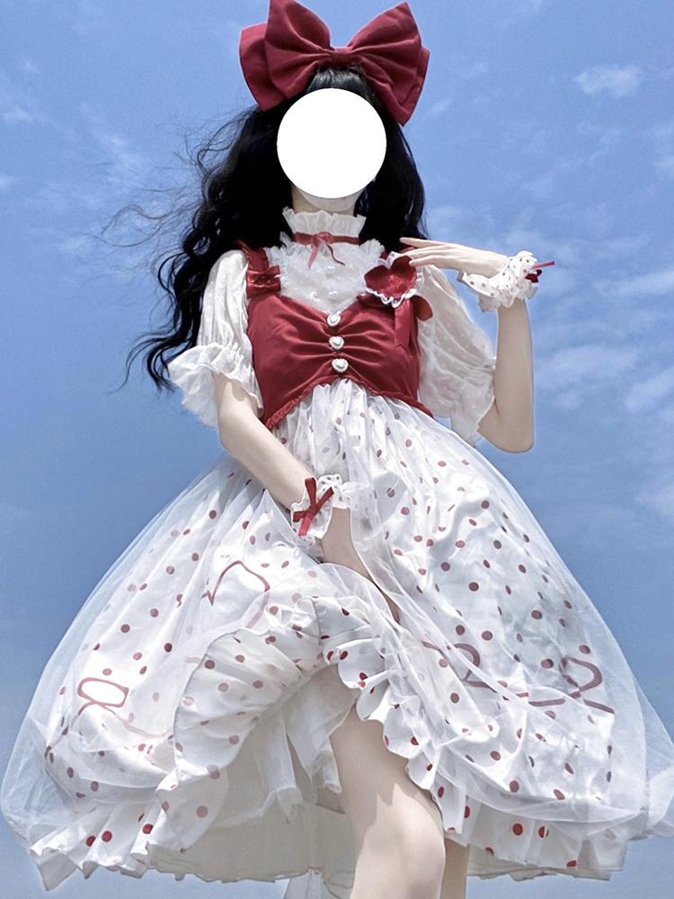 スポット桜姫ロリータスカートオリジナル正版フルセット日常のロリータワンピース