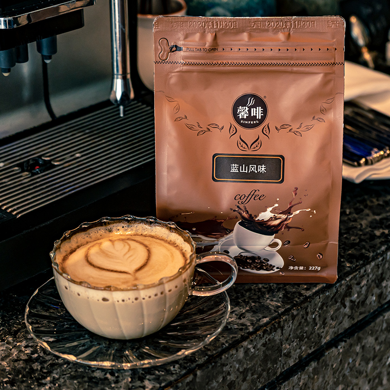 Xinfei Blue Mountain flavor 227g / Italian Blue Mountain flavor freshly baked ready to grind coffee beans